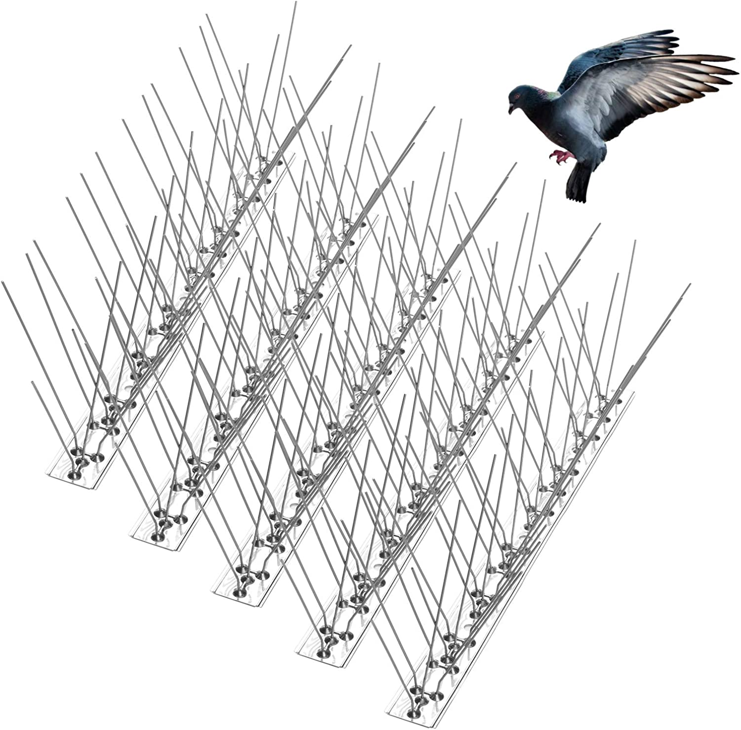 Stainless Steel  Pigeons Spikes Scares for Roofs,Chimneys,Towers