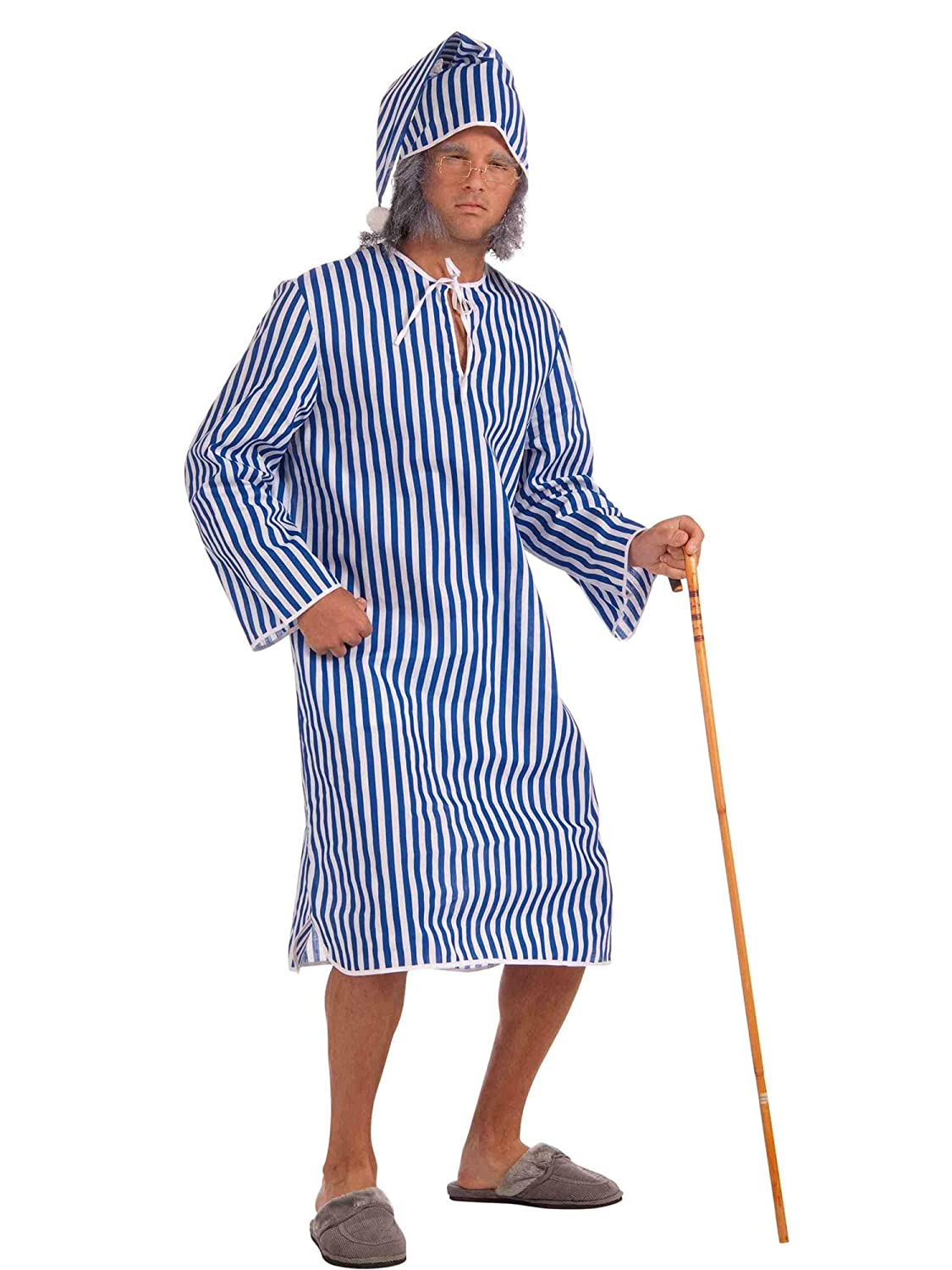 scrooge fancy dress costume night gown and cap