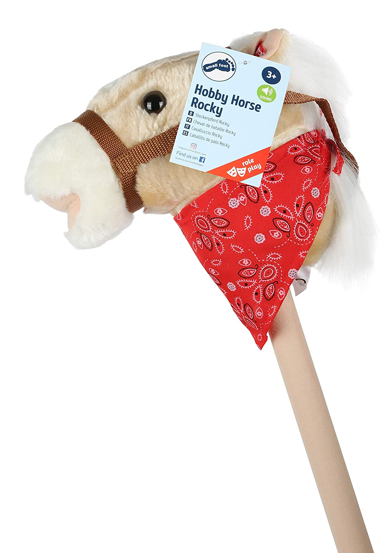 small foot company 4151 - Bastón con cabeza de caballo de peluche [Importado de Alemania]: Amazon.es: Juguetes y juegos