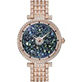 Princess Butterfly Watches Women Silver Crystal Watch for Women,Luxury Diamond Watch Ladies, Crystal Stainless Steel Watch Band, Two Size Options
