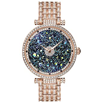 Gift for Her ♥ Women Watch Rose Gold Premium Austria Crystal Accented & Platinum Plated