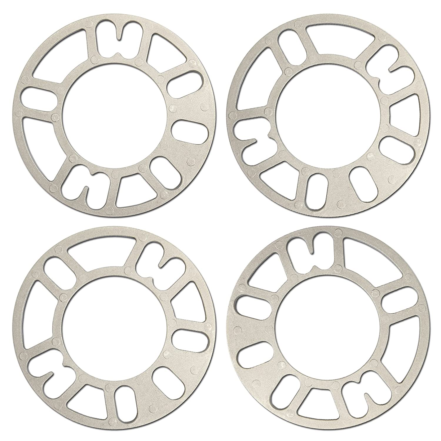 DHOUTDOORS 4 Pcs Alloy Universal Wheel Spacers Shims Spacer 5mm 4 and 5 Stud Fit