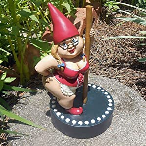 LQ-MAOZI Garden Resin Gnome Couple Statue - Garden Gnome Couple in Love,gnome Ornament,Resin Patio-Lawn-and-Garden Outdoor-Decor Garden-Sculptures-and-Statues,B