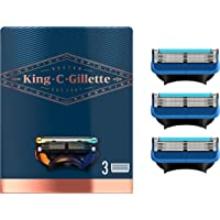 King C. Gillette Men's Refill Shave and Edging Razor Blades, Pack of 3 Refills, with Built In Single Blade Precision…