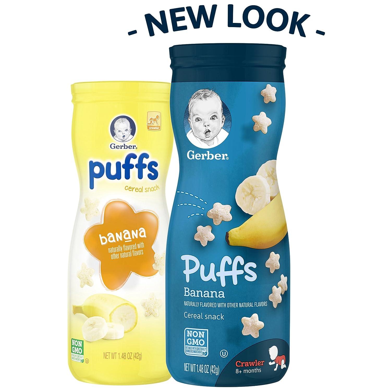 Gerber Graduados Puffs cereales Snacks Variedad Pack, 1,48 oz (Pack de 6): Amazon.es: Alimentación y bebidas