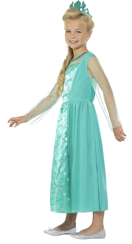 Smiffys Disfraz de Princesa del Hielo, Azul, con Vestido y Corona: Amazon.es: Juguetes y juegos