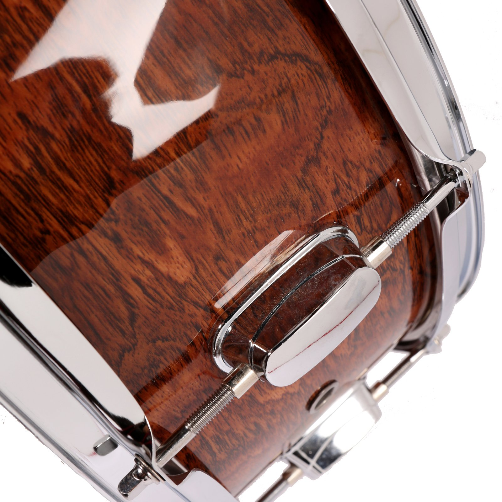 LAGRIMA Student Beginner Snare Drum W/Drum Key, Drumsticks and Strap|14x5.5 inch|Real Wood Shell|8 Metal Tuning Lugs by LAGRIMA (Image #8)