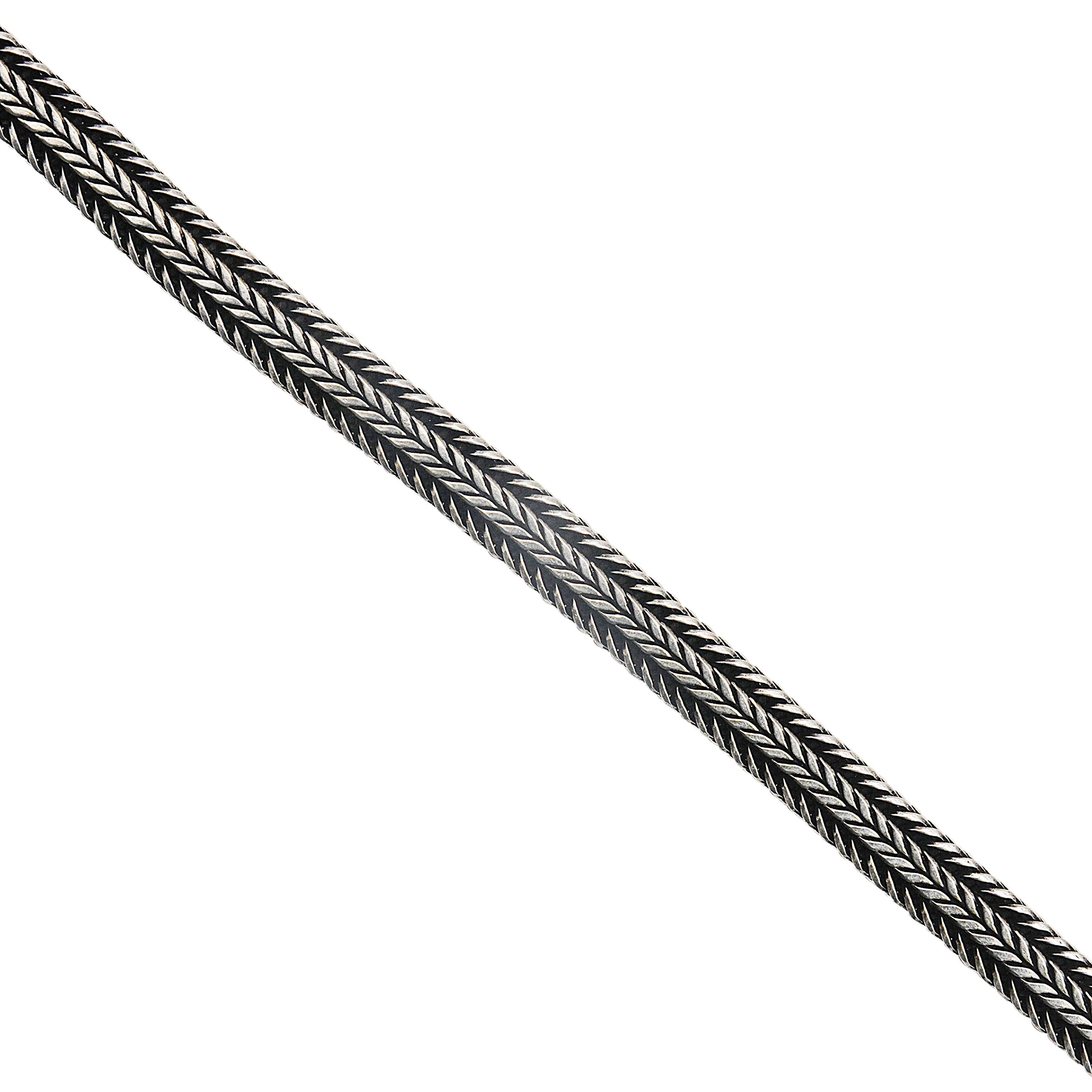 Adastra Jewelry Braided Chain 925 Sterling Silver Mens Wear Handmade Jewelry 1 to 36 Inches