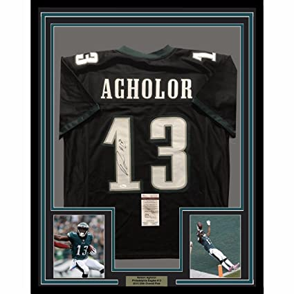 sports shoes 3a3f9 a4f51 Framed Autographed/Signed Nelson Agholor 33x42 Philadelphia ...