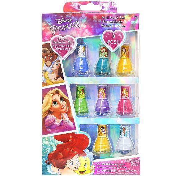 Amazon.com: TownleyGirl Disney Princess Peel-off Nail Polish Gift ...