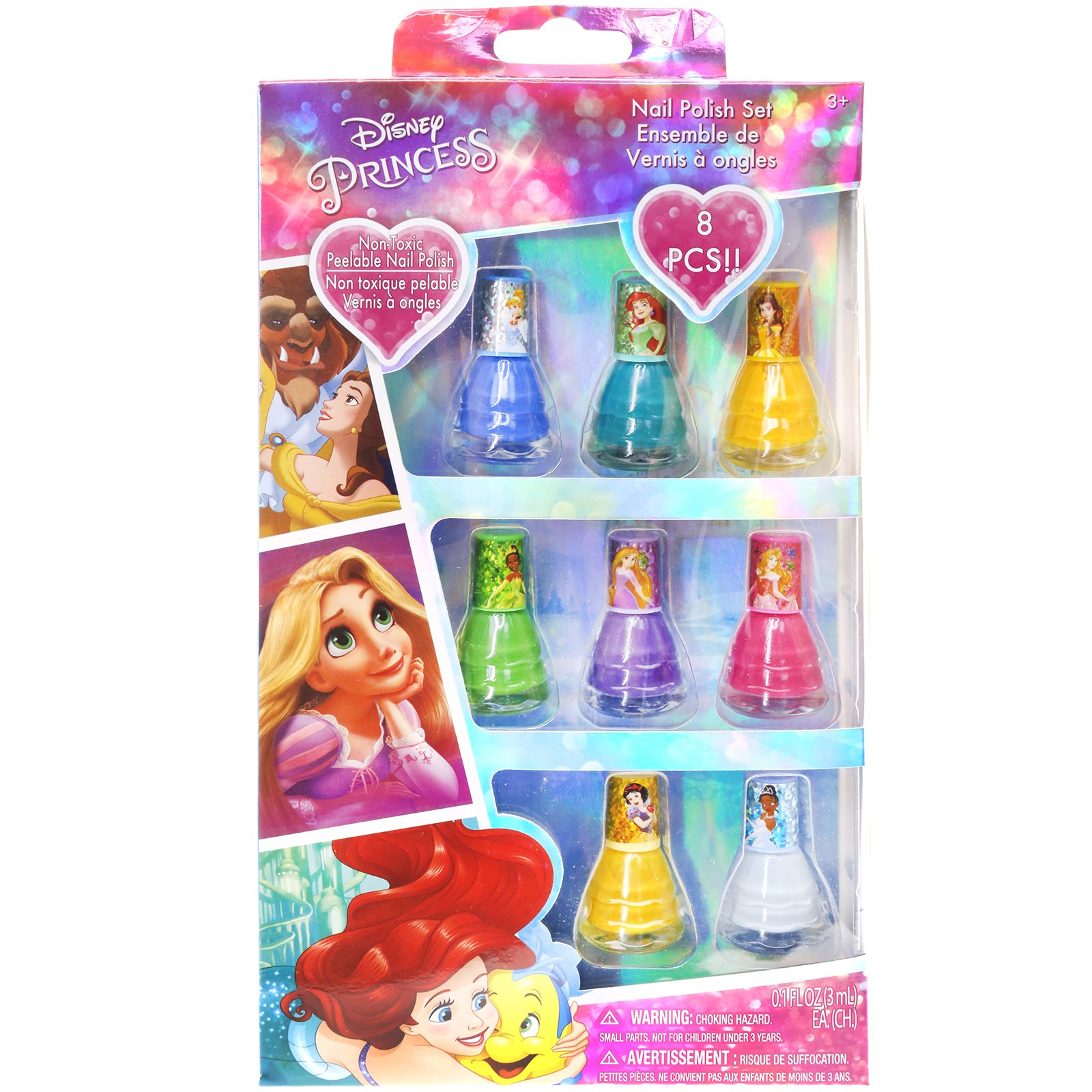 Townley Girl Disney Princess Non Toxic Peel Off Nail: TownleyGirl-Disney-Princess-Peel-Off-Nail-Polish-Gift-Set