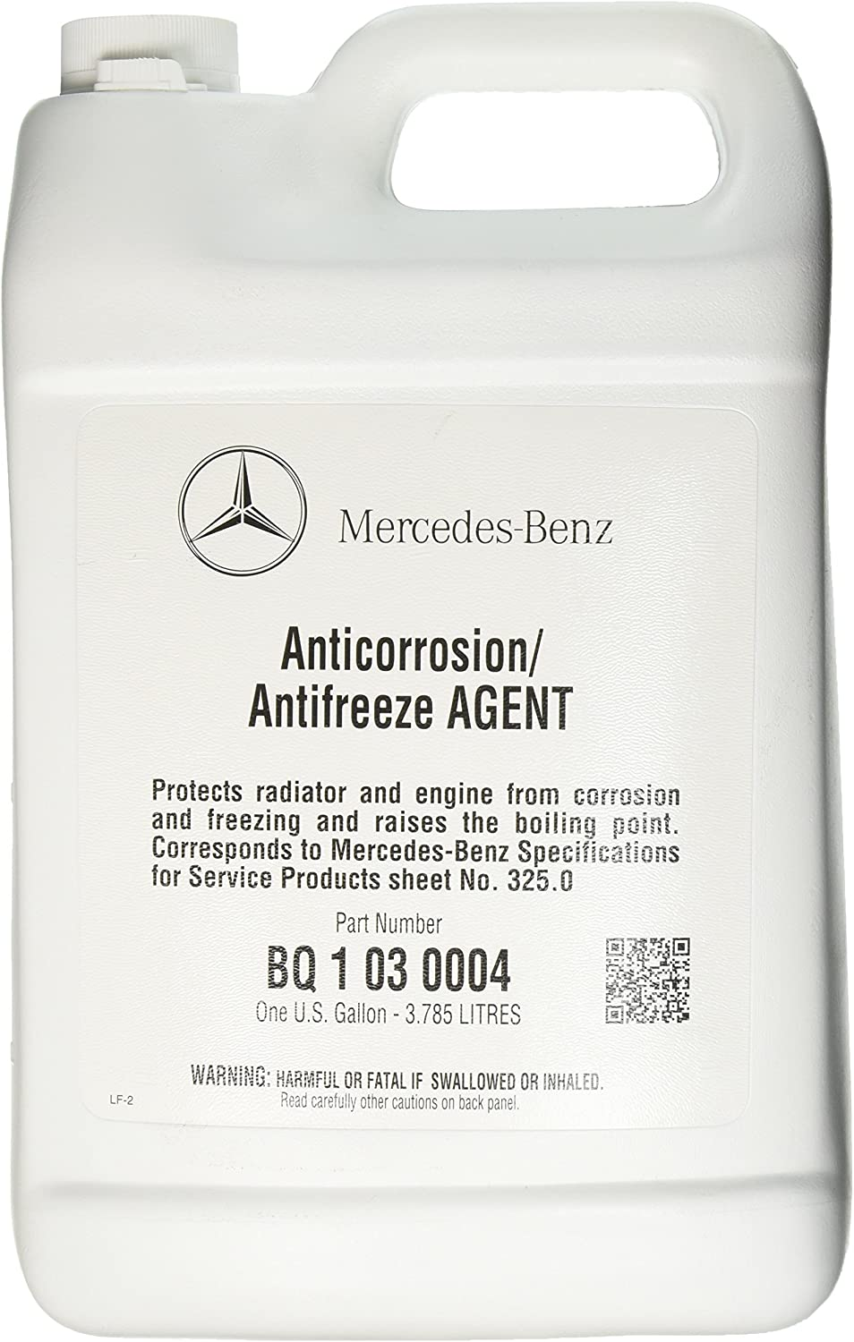 Mercedes Benz Engine Coolant/Antifreeze (1 Gallon) (Blue Color)