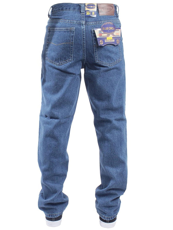BLUE CIRCLE New Mens Straight Leg Basic Heavy Work Jeans Denim Pants All Waist Big Sizes