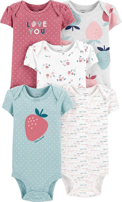 Carter's baby-girls Multi-pk Bodysuits 126g330