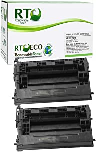 Renewable Toner Compatible Cartridge Replacement for HP CF237A 37A Laserjet Enterprise M607 M607 M608 M609 M631 MFP M632 MFP M633 MFP (Black, 2 Pack)