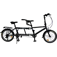 ecosmo 50,8cm New pliante City Tandem Vélo 7sp–20tf01bl