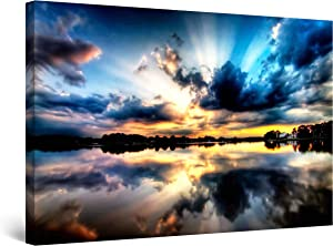 Startonight Canvas Wall Art - Multicolor Sky II, Framed 32 x 48 Inches