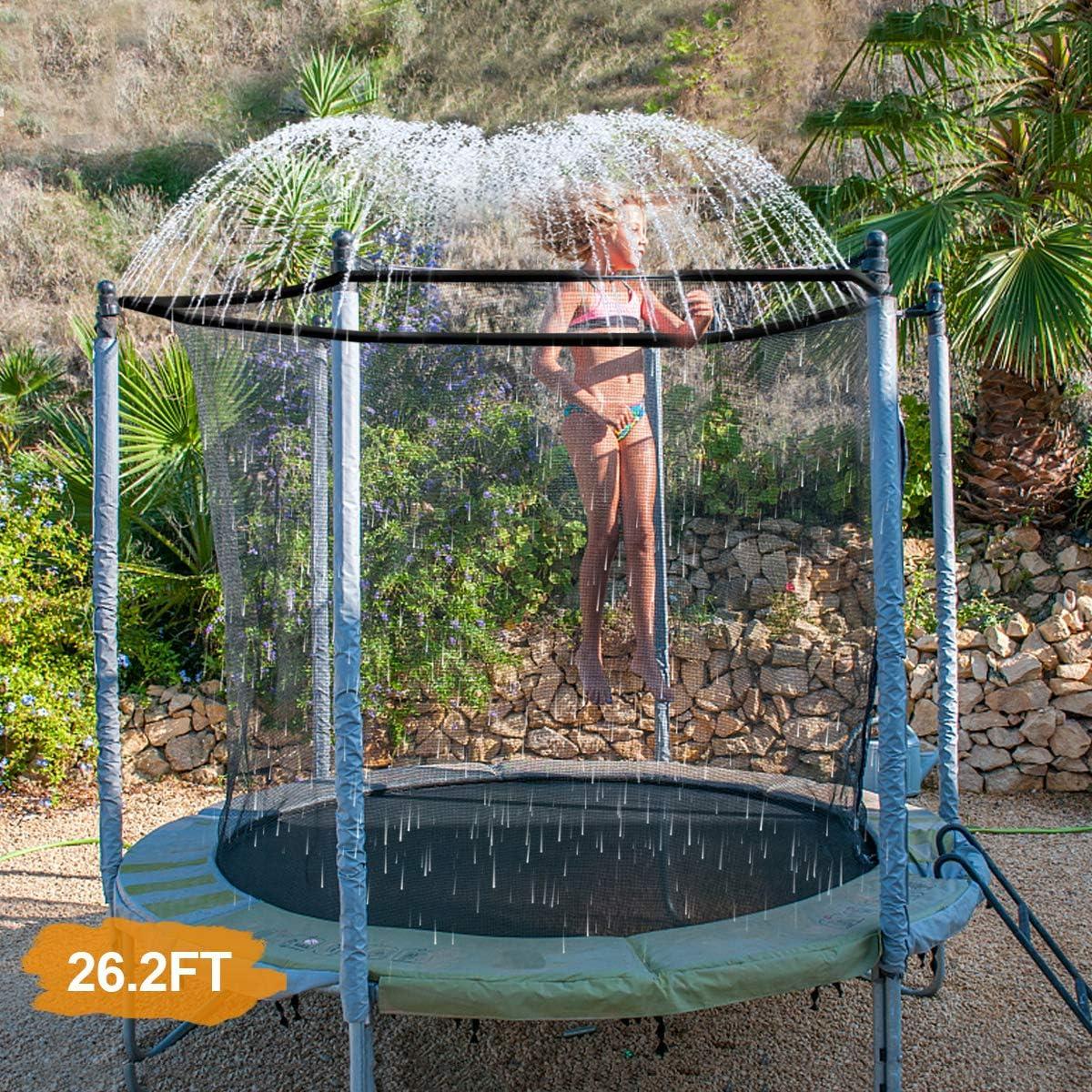 INMUA Aspersor Trampolín Set, Rociador de Trampolín Aspersor para Parque Acuático de Trampolín al Aaire Libre, rRociador de Diversión aAcuática de Verano para Niños Niñas (8M / 26.2FT)
