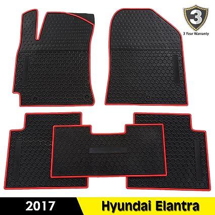 Fit For Hyundai Elantra 2017 All Weather Floor Mats Cab Front U0026 Rear Rubber  Mat Floor