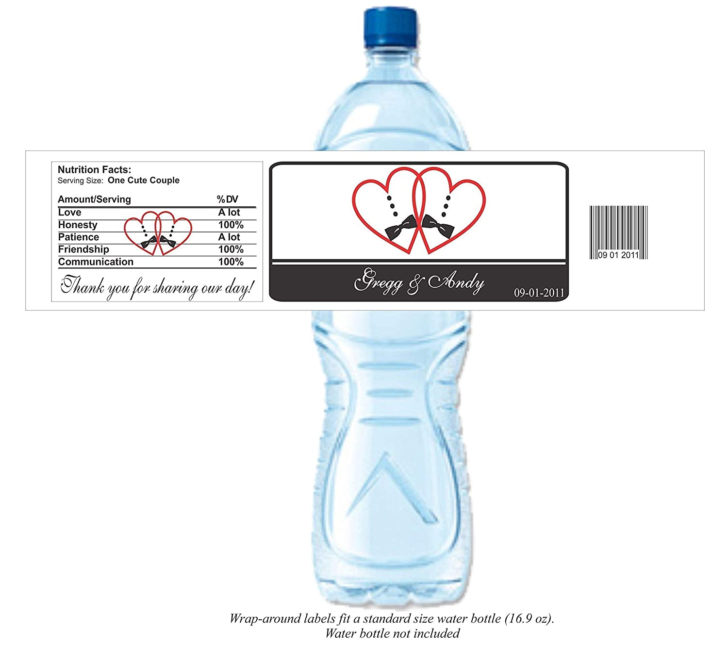 Amazon com: Gay Wedding Water Bottle Labels (set of 24)(Y550