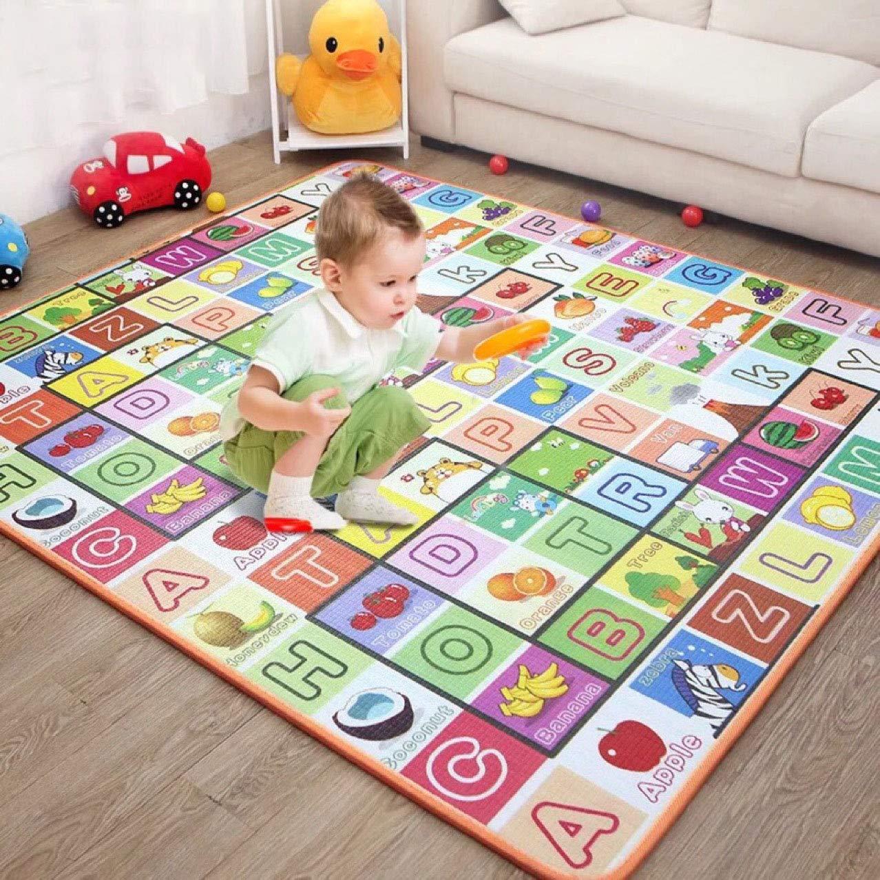 1.5 Cm Thick Crawling Mat Kids Crawling Educational Play Mat Game Soft Foam Large Size Picnic Carpet 200X180cm U-ben