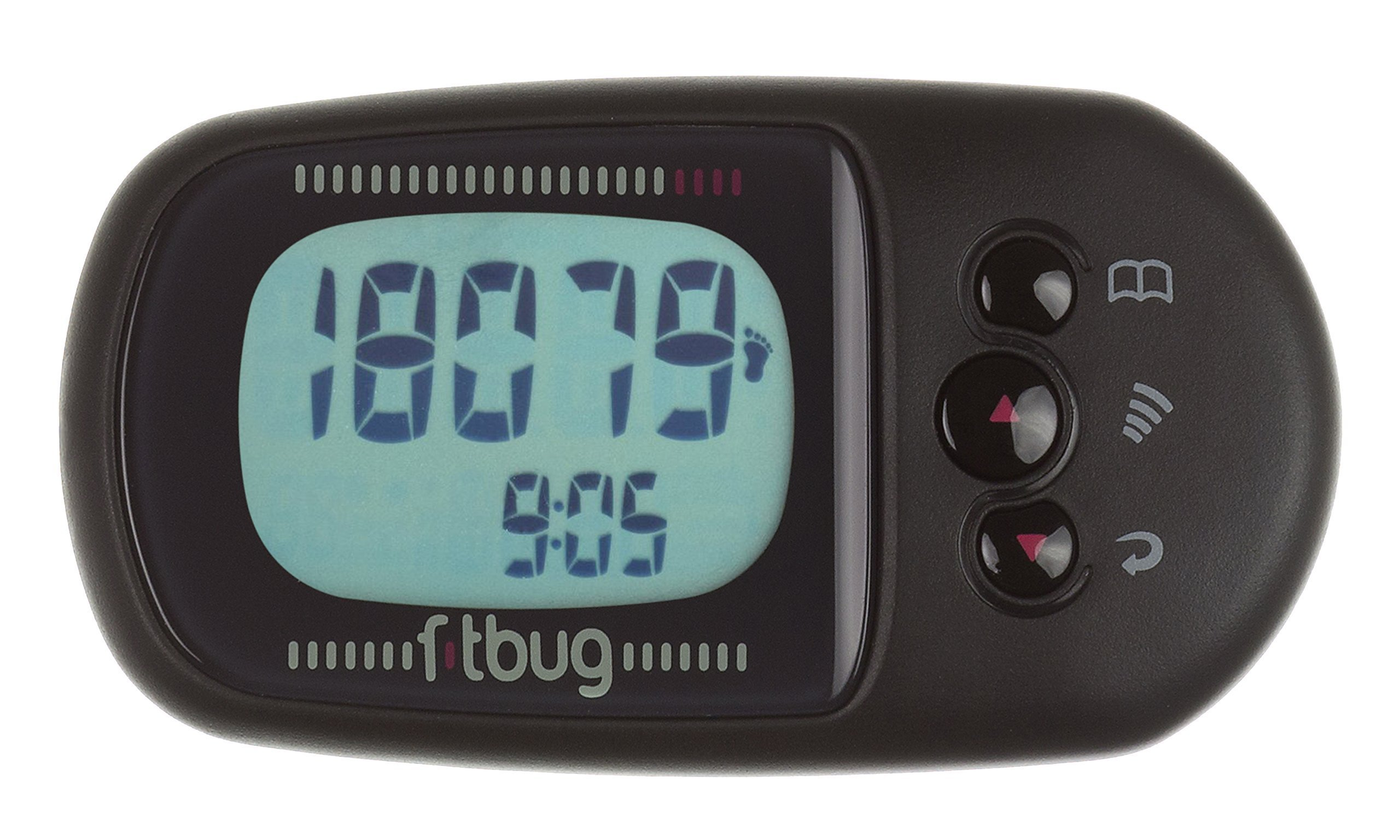 Fitbug AIR Activity Tracker - Retail Packaging - Black by Fitbug (Image #2)