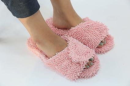 Elmo Spa Zapatillas con multifuncional alfombra de baño y ducha alfombra varios colores talla única (hasta nosotros 10,5 tamaño) (secador de alfombra), ...