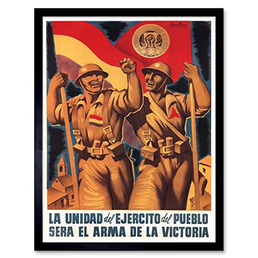 Wee Blue Coo War Propaganda Spanish Civil International Brigade Republican Spain Unframed Wall Art Print Poster Home Decor Premium