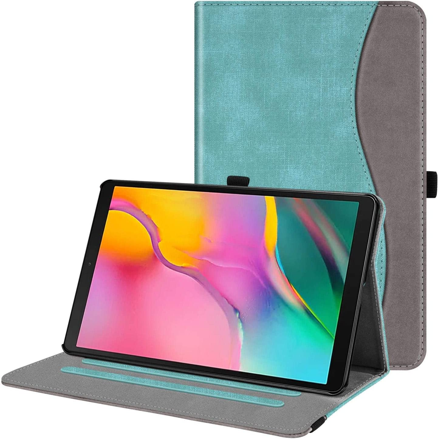 Fintie Case for Samsung Galaxy Tab A 10.1 2019 Model SM-T510(Wi-Fi) SM-T515(LTE) SM-T517(Sprint), Multi-Angle Viewing Stand Cover with Pocket, Denim Turquoise
