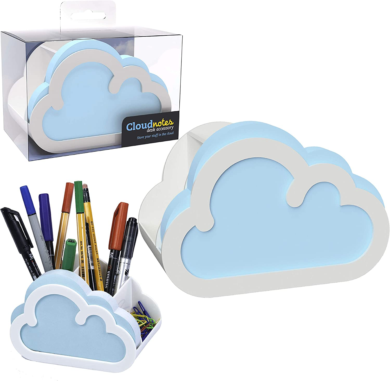 Cloud Sticky Notes Desk Organiser Pen Holder Pot Notepad Memo Office Stationery Gift- Note Pad Holder