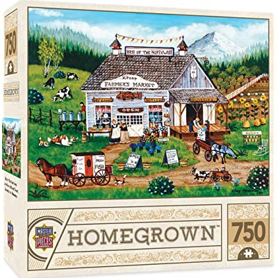 """MasterPieces Homegrown Best of the Northwest Puzzle (750 Piece), Multicolored, 18""""X24"""": Toys & Games"""