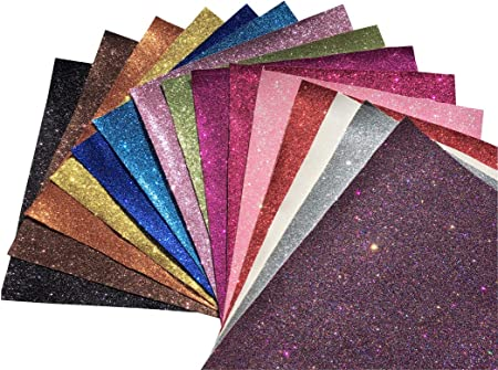 Synthetic Leather Super Fine Glitter Canvas Faux Leather Bow Supplies Bag Supplies Jewelry Supplies Vinyl Coffee Brown Fabric Sheet