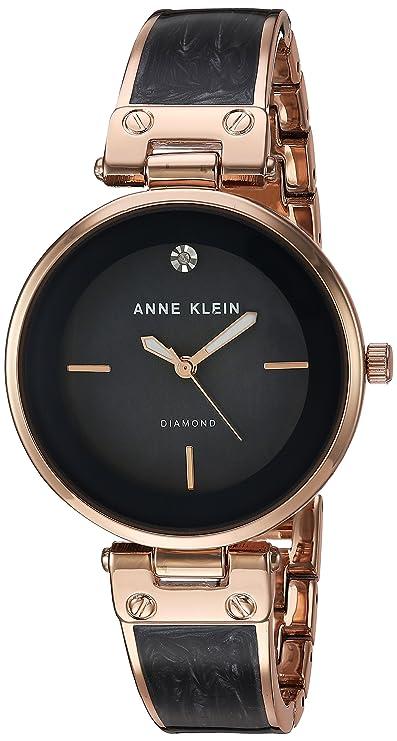 Women's Diamond-Accented Dial Bangle Watch