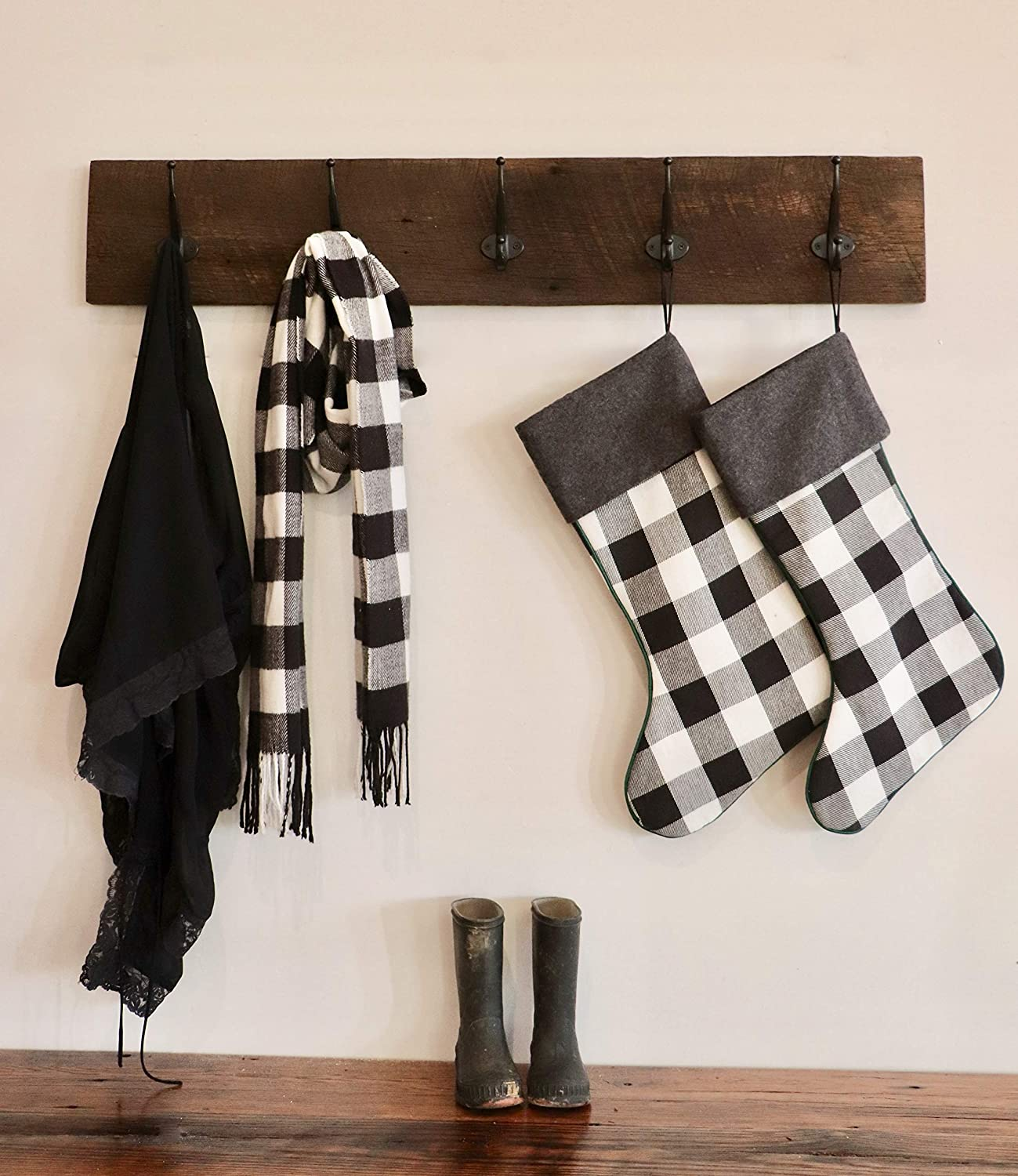 Reclaimed Barn Wood Coat Rack 36
