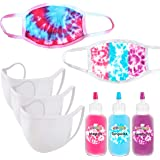 Perfectware Essentials Tie Dye Mask Kit - DIY Back to School Tie Dye Masks - Cotton Candy Tri-Color Kit - Krafty Kitz