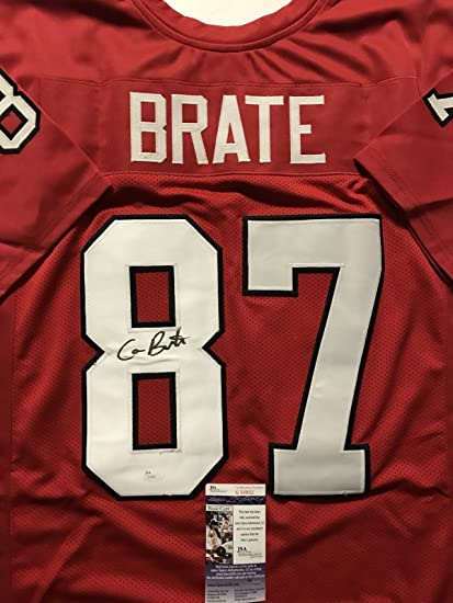 d3547e777 Autographed/Signed Cameron Brate Harvard Red College Football Jersey JSA  COA at Amazon's Sports Collectibles Store