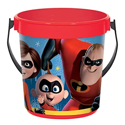"amscan Disney/Pixar Incredibles 2"" Container, Party Favor, Standard, Red: Toys & Games"