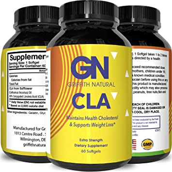 Cla Supplement Safflower Oil Conjugated Linoleic Acid Lose Belly Fat Weight Loss Pills Build