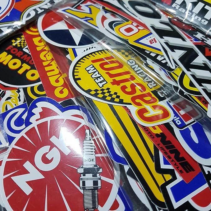 Amazon.com: 120 Pcs Racing Sticker Pack Vintage Decal Rare Original Motocross Motorcycle Car Decal Stickers: Automotive