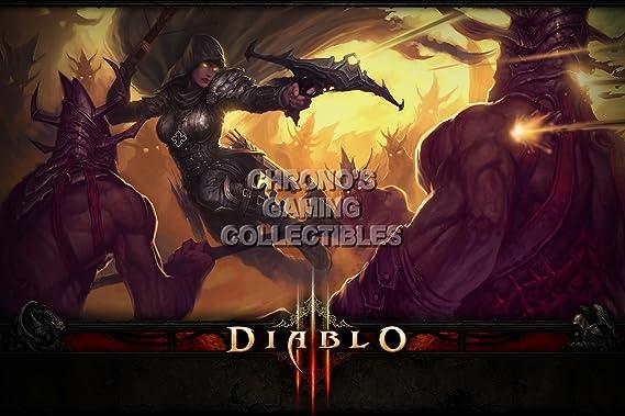 CGC enorme cartel - Diablo III PS3 PS4 XBOX 360 ONE - clase Demon ...