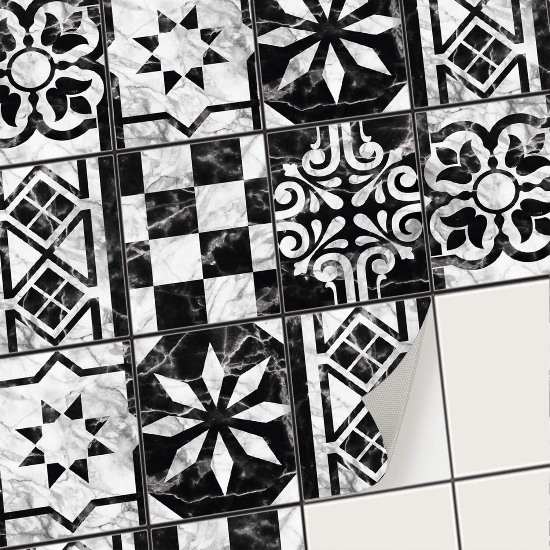 Creatisto Fliesenaufkleber Fliesenfolie Mosaikfliesen - Hochwertige Hochwertige Hochwertige Sticker Aufkleber für Wandfliesen I Klebefliesen Deko Folien für Fliesen in Küche u. Bad Badezimmer (20x25 cm I 18 -Teilig) B07KGB4TTM Wandtattoos & Wandbilder 0f0427