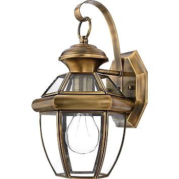 Quoizel ny8315a newbury light outdoor wall lantern antique brass quoizel ny8315a newbury light outdoor wall lantern antique brass aloadofball Images