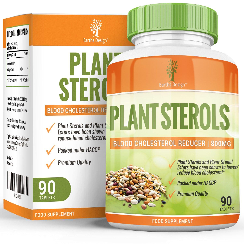 Pflanzensterine - Mit 800mg Stanole - Plant Sterols - Maximal Potentes Nahrungsergänzungsmittel für ein Gesundes Herz-Kreislauf-System - 90 Tabletten von Earths Design