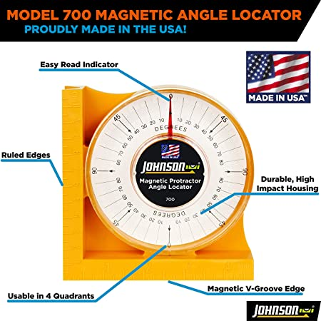 226bbc84390 Johnson Level   Tool and Tool 700 Magnetic Angle Locator - Construction  Protractors - Amazon.com