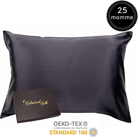 Amazon Com 100 Silk Pillowcase For Hair Luxury 25 Momme Mulberry