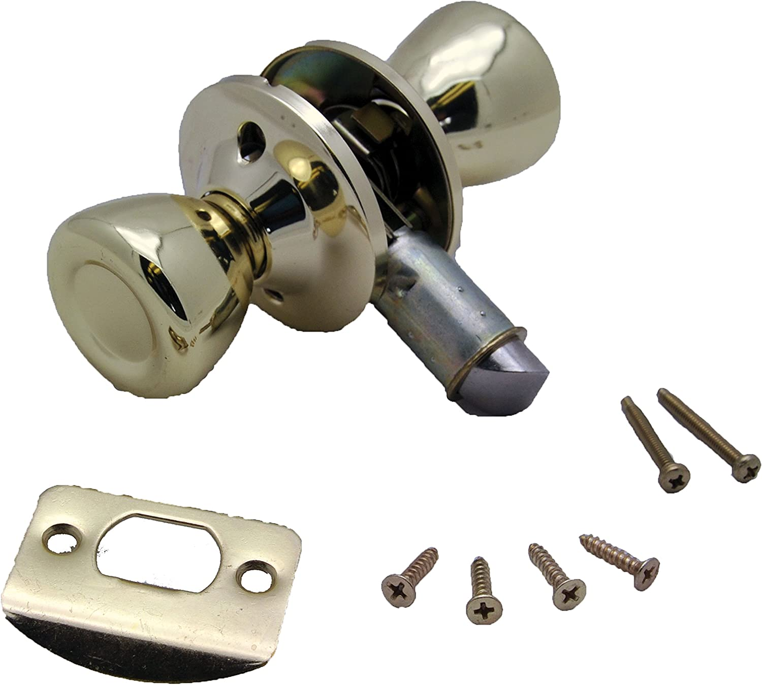 AP Products 013-203 Passage Door Knob, Polished Brass