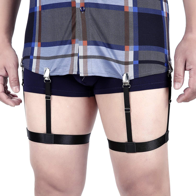 Details about  /Men Shirt Elastic Suspender Leg Adjustable Holder Gentleman Business Stay Braces