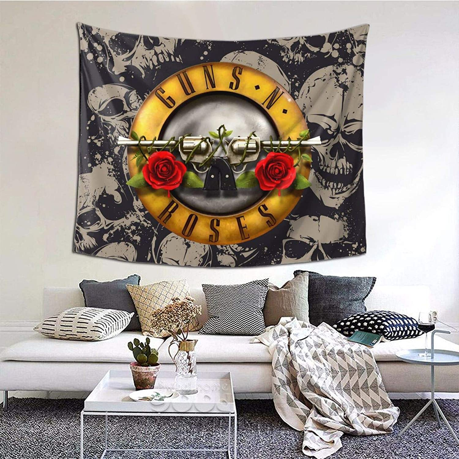Guns N Roses Appetite for Destruction Tapestry Art Style Home Decorations Wall Hanging Living Room Bedroom Dorm Room Wall Decor Wall Hanging 60 X 51 Inch