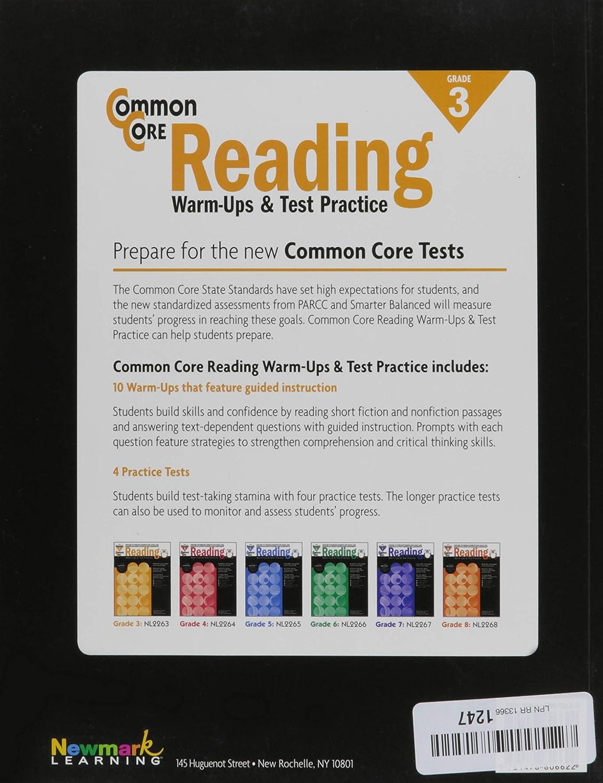 Amazoncom Common Core Reading Warm Ups And Test Practice Grade 3