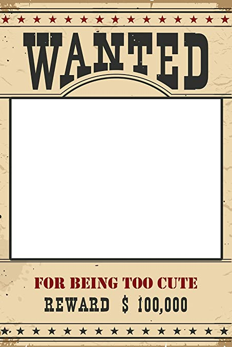 amazon com speedy orders wanted reward poster selfie party frame